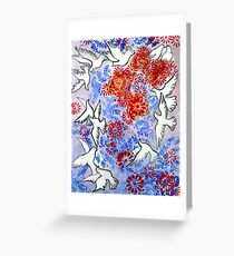 Floral Doves Greeting Card