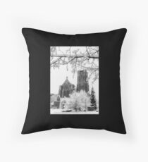 The Church of St. Mary/St. Paul in December Throw Pillow