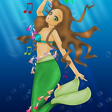 Brunette Mermaid by LARiozzi