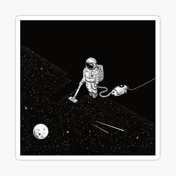 Space Cleaner Sticker