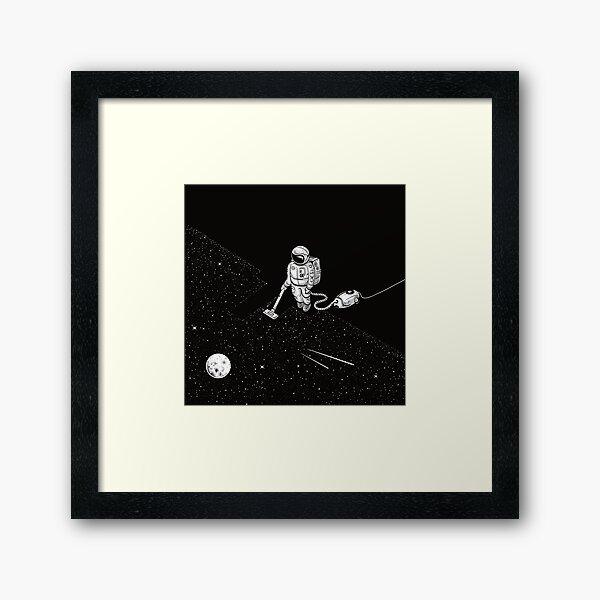 Space Cleaner Framed Art Print