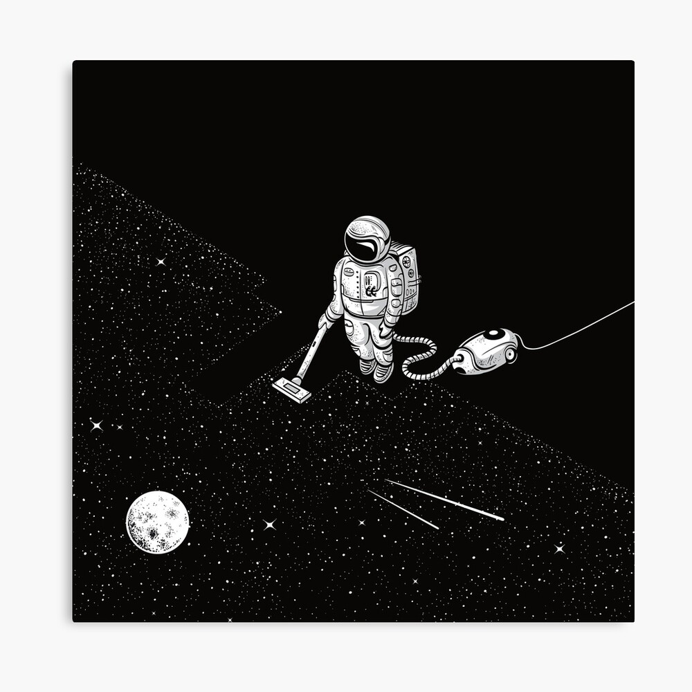 Space Cleaner Canvas Print
