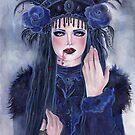 Victorian lace vampire woman by Renee L Lavoie by Renee Lavoie