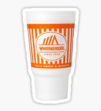 whataburger cup Sticker
