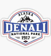 DENALI NATIONAL PARK ALASKA MOUNTAINS HIKE HIKING CAMP CAMPING 3 Sticker