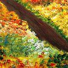Lovely Flowery Path by WhiteDove Studio kj gordon