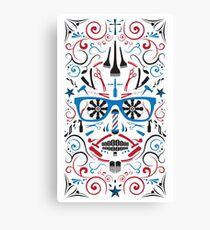 barbershop sugar skull Canvas Print