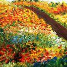 Lovely Flowery Path To The Beach by WhiteDove Studio kj gordon