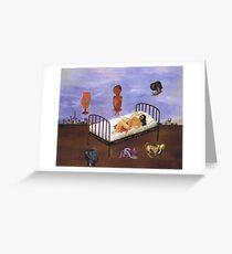 frida kahlo henry ford hospital painting Greeting Card