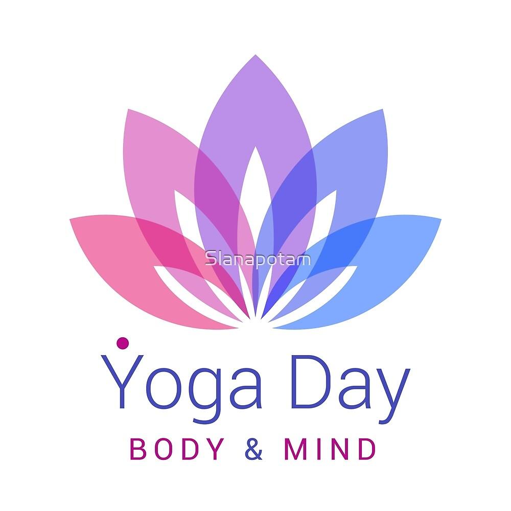 Purple Lotus Flower Yoga Day Design By Slanapotam Redbubble