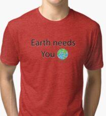 Funny tee shirt Earth Day Tri-blend T-Shirt
