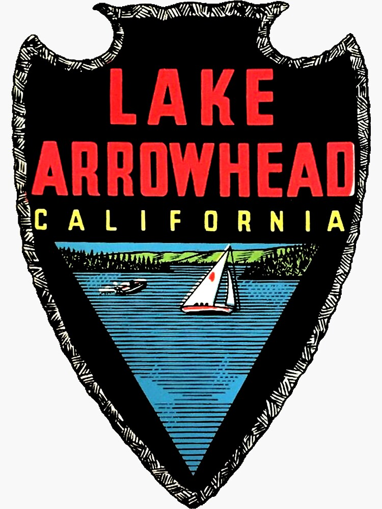 Lake Arrowhead California Vintage Travel Decal by hilda74