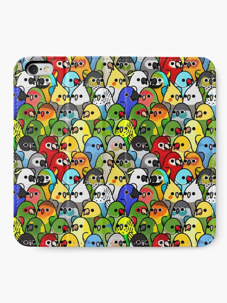 Alternate view of Too Many Birds! Bird Squad Classic iPhone Wallet
