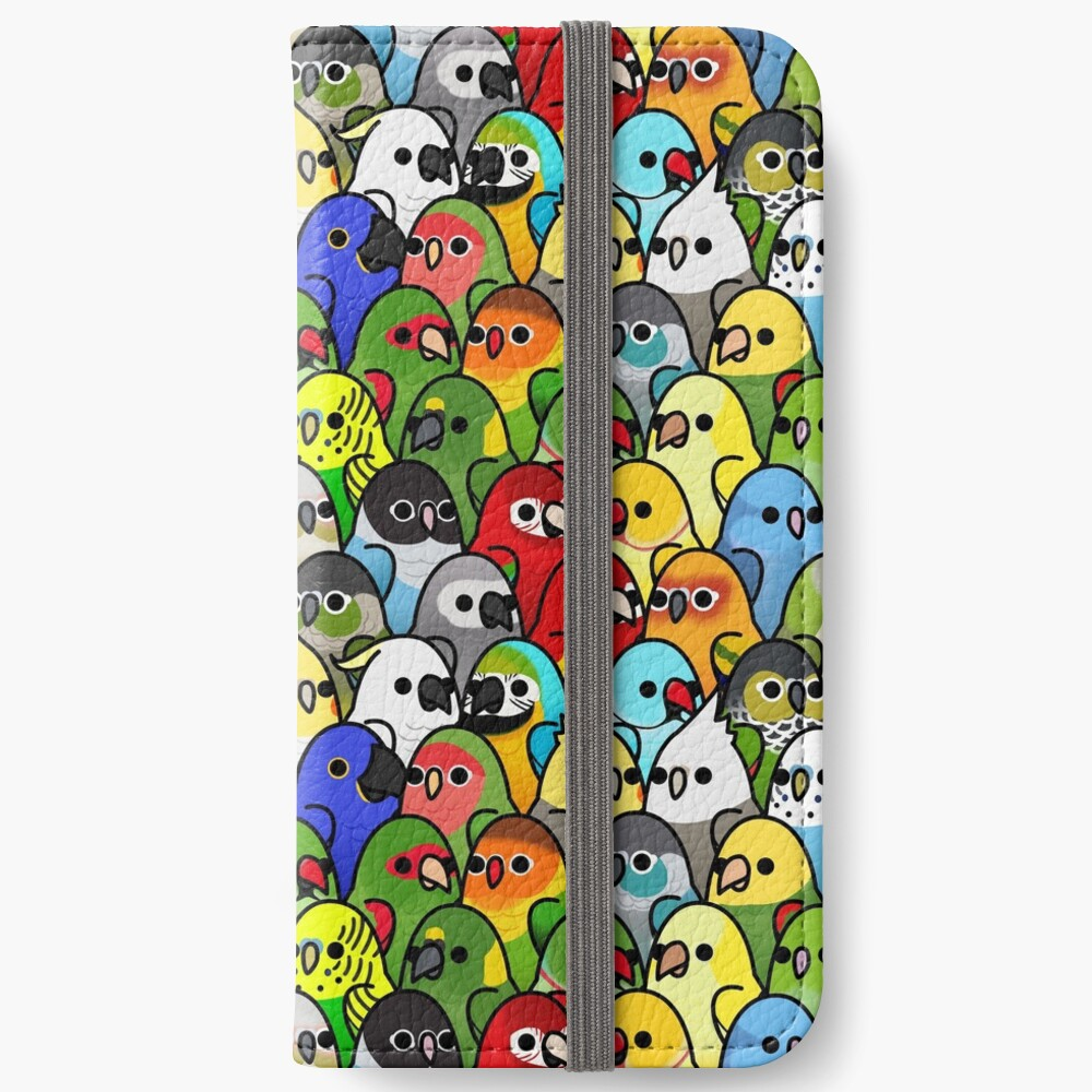 Too Many Birds! Bird Squad Classic iPhone Wallet