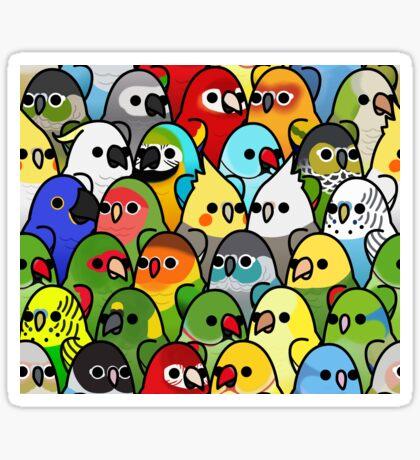 Too Many Birds! Bird Squad 1 Sticker