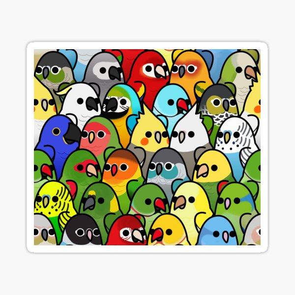 Too Many Birds! Bird Squad Classic Sticker
