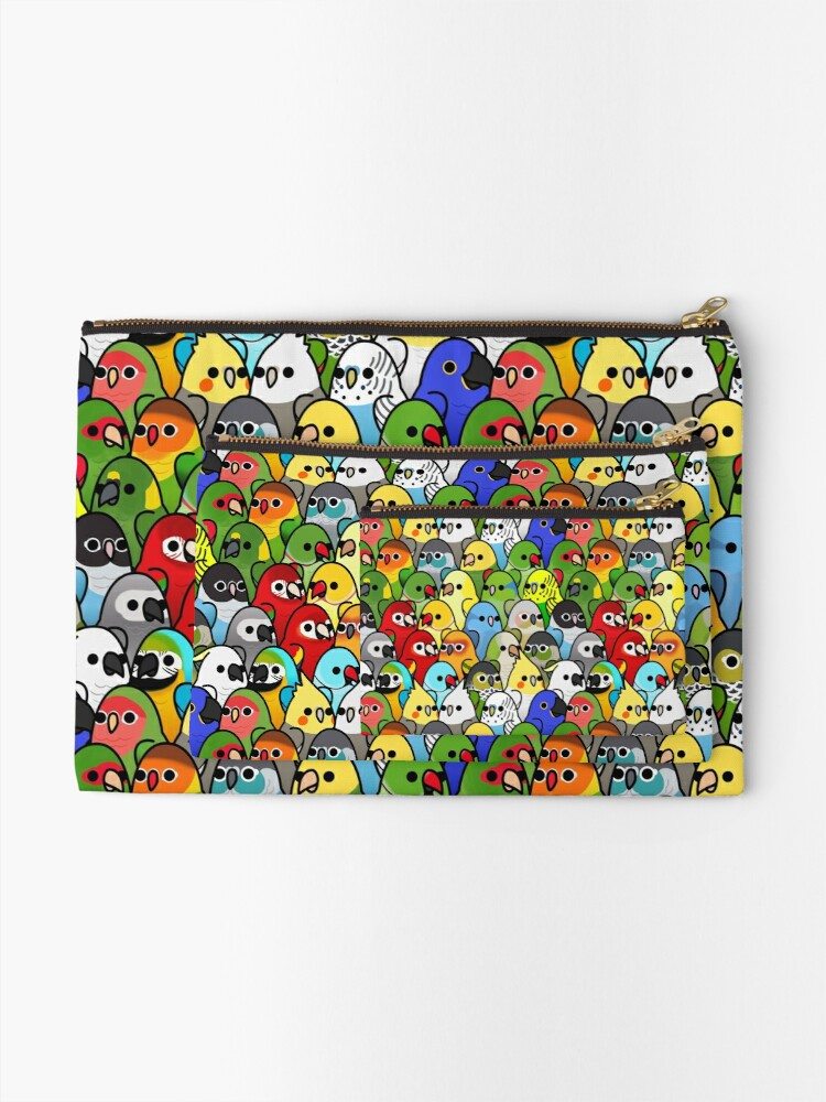 Alternate view of Too Many Birds! Bird Squad Classic Zipper Pouch