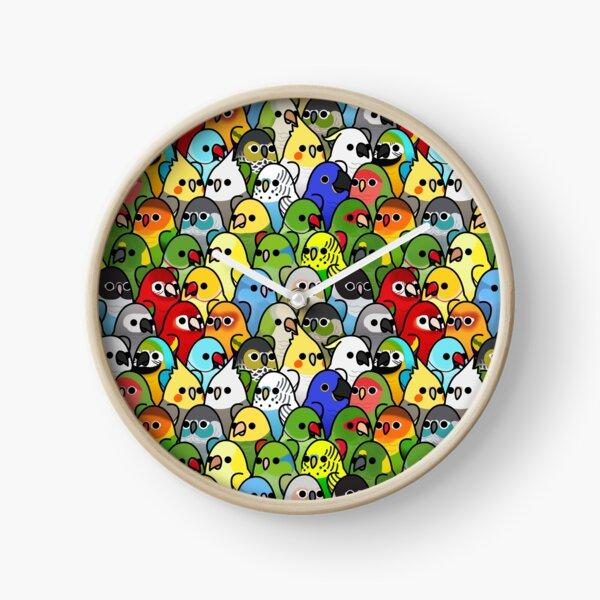 Too Many Birds! Bird Squad Classic Clock