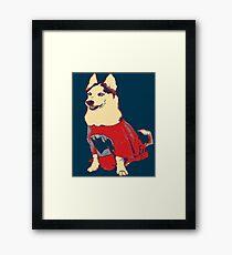 Hero Husky Framed Print
