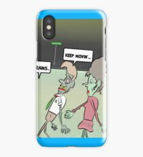 Zombies on the move iPhone Case