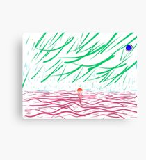 Green Rain Canvas Print