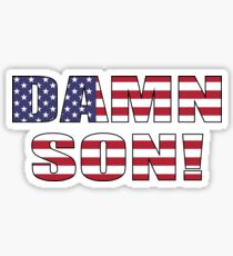 Damn Son! (USA) Sticker