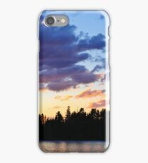 Canoeing at sunset iPhone Case/Skin
