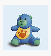 Lunch Time Baby Teddy Bear Photographic Print