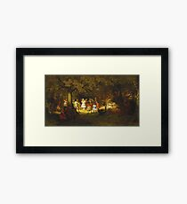John George Brown - Picnic Party In The Woods Framed Print