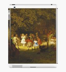 John George Brown - Picnic Party In The Woods iPad Case/Skin