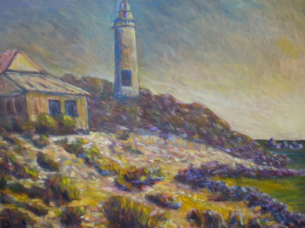 Rottnest Island Lighthouse by David Hinchliffe