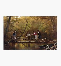 John George Brown - The Country Gallants Photographic Print