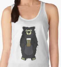 Black Bearded Beer Bear Women's Tank Top