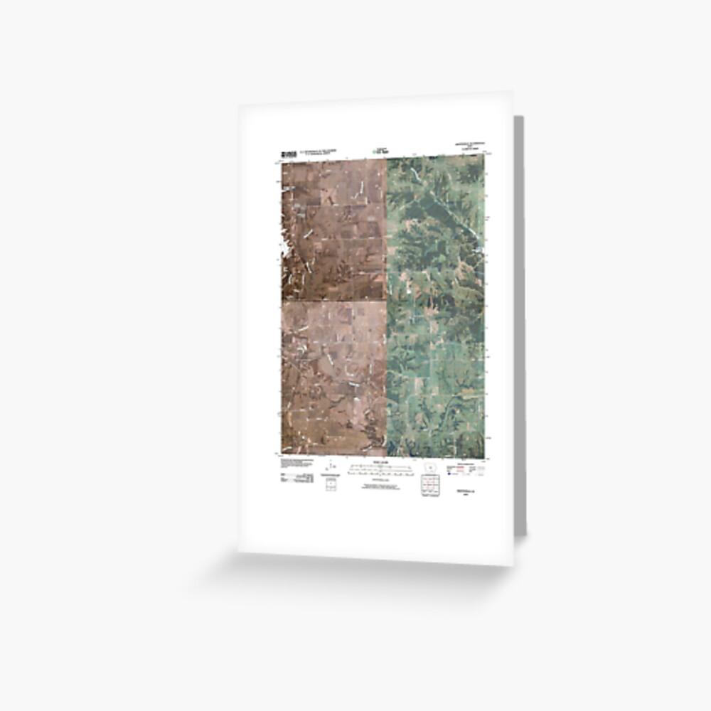 USGS TOPO Maps Iowa IA Hiattsville 20100507 TM Grußkarte