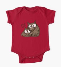 Mom owl and a baby owl cuddling One Piece - Short Sleeve