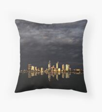 Overcast Perth Throw Pillow