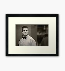 The Smiling Mime Framed Print