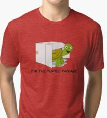 The Turtle Package Tri-blend T-Shirt