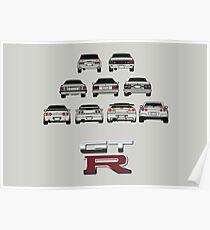 Nissan Skyline Black Poster