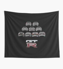 Nissan Skyline White Wall Tapestry