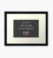 Nissan Skyline White Framed Print