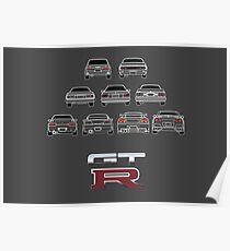 Nissan Skyline White Poster
