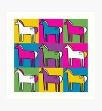 Ponys Kunstdruck
