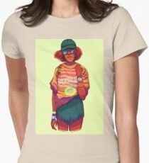 Neon Stitch Womens Fitted T-Shirt