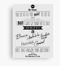 Quoted - Breakfast Club Canvas Print