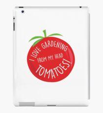 I love gardening! iPad Case/Skin