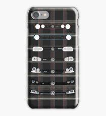 VW Golf Plaid iPhone Case/Skin