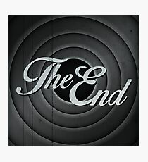 The End Photographic Print