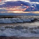 Waves on the Shore - Erie, PA by Kathy Weaver