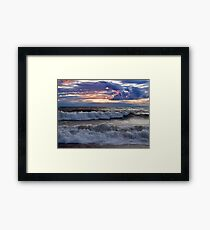 Waves on the Shore - Erie, PA Framed Print